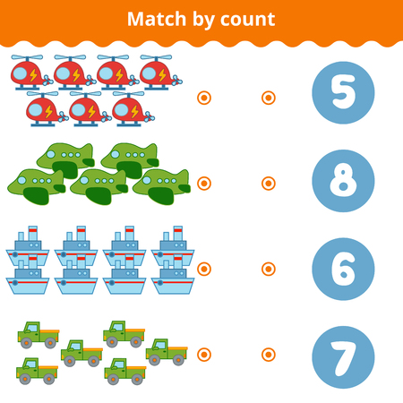 secret number: Counting Game for Preschool Children. Educational a mathematical game.