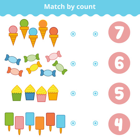 preschool children: Counting Game for Preschool Children. Educational a mathematical game.