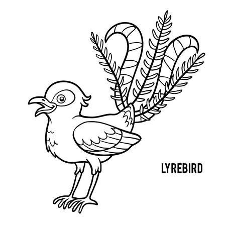coloration: Coloring book for children, Lyrebird