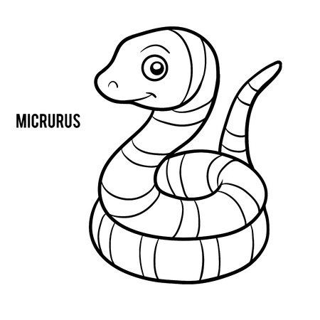 Coloring book for children, Micrurus Illustration