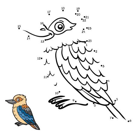 secret number: Numbers game, education dot to dot game for children, Kookaburra Illustration