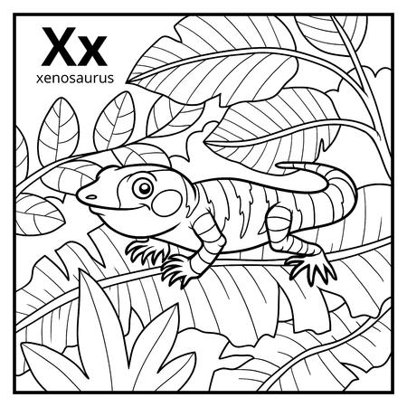 Dibujo Para Colorear Para Niños Alfabeto Incoloro Con Letra