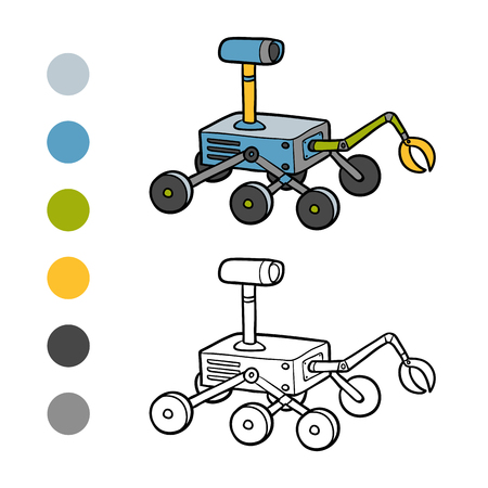moon rover: Coloring book for children, Rover