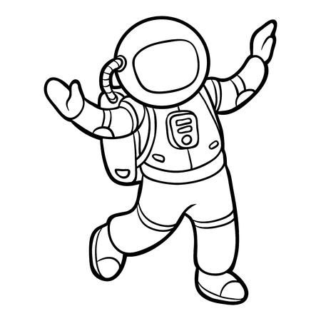 Dibujo Astronauta Para Nios. Best Astronauta Vista Posterior De ...