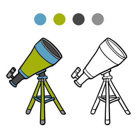 Coloring book for children, Telescope