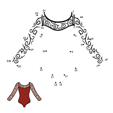 leotard: Numbers game, education dot to dot game for children, Dance Leotard