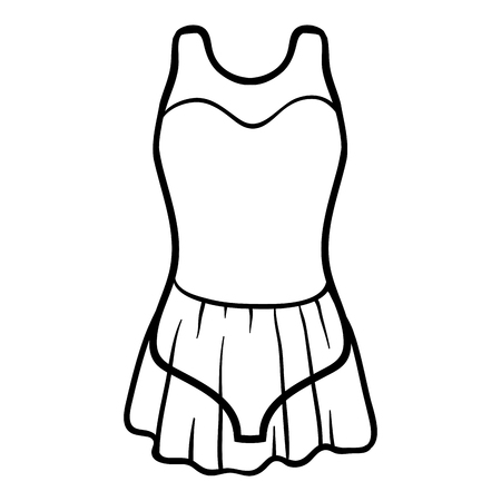 leotard: Coloring book for children, Dance Leotard Illustration