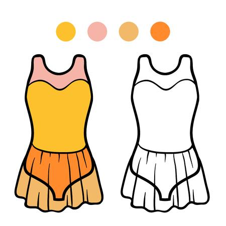 Dibujo Para Colorear Para Niños, Dance Leotard Ilustraciones ...