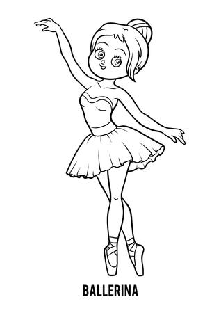 Malbuch für Kinder, Ballerina Standard-Bild - 79465596