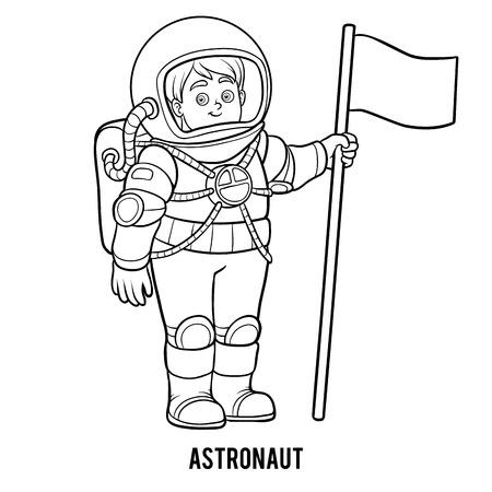 Dibujo Para Colorear Para Niños, Astronauta Ilustraciones ...