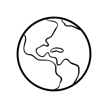 Dibujo Para Colorear Para Niños, Tierra Ilustraciones Vectoriales ...