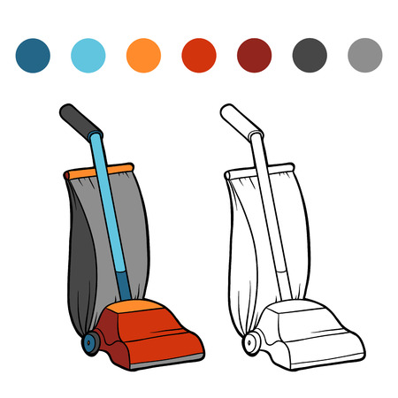 Coloring book for children, Vacuum cleaner Illustration