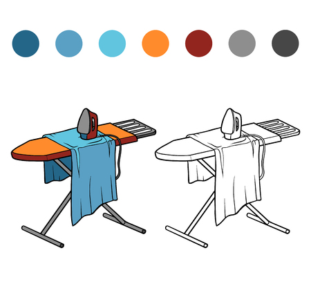 Coloring book for children, Ironing board