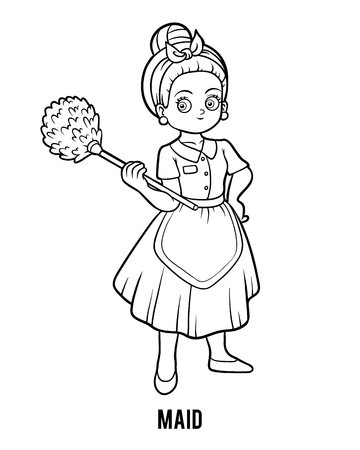 Coloring book for children, Maid