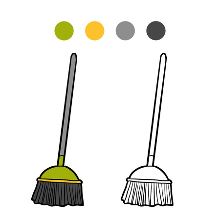besom: Coloring book for children, Broom