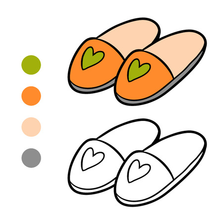 Coloring book for children, Slippers