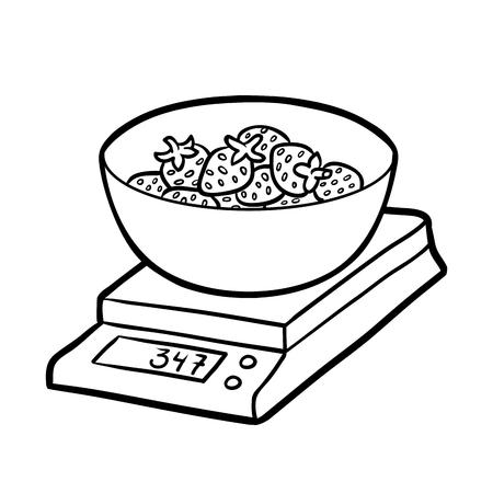 Icono Isométrica Balanza De Cocina Ilustración Vectorial