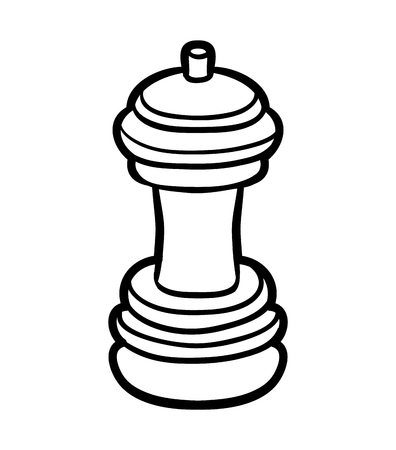 Coloring book for children, Pepper mill