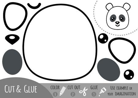 Bildungs-Papier-Spiel Für Kinder, Panda. Verwenden Sie Eine Schere ...