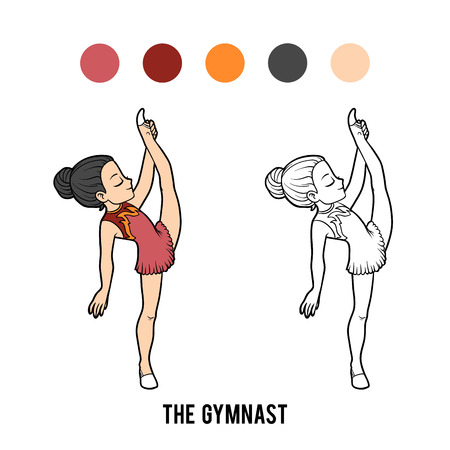 Coloring book for children, The gymnast girl