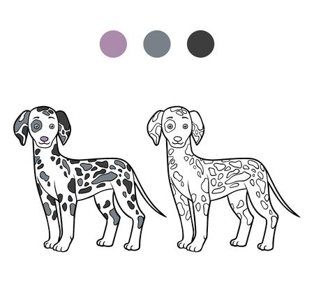 Animal Coloring Book Kids Vector