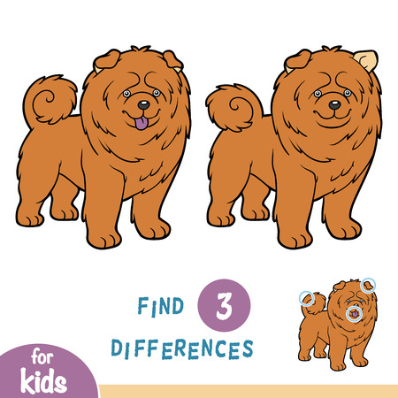 Find the difference, education game for children Illustration