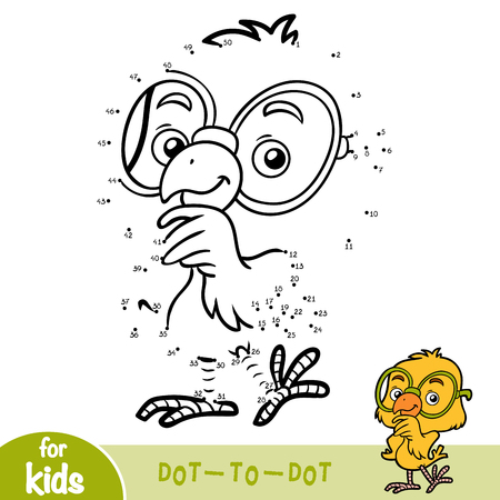 Numbers game, education dot to dot game for children Illustration