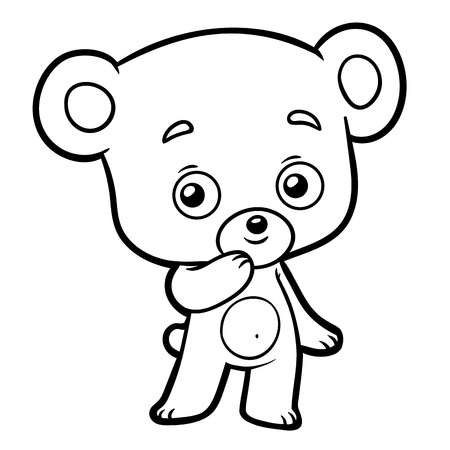 Coloring book for children - little Bear