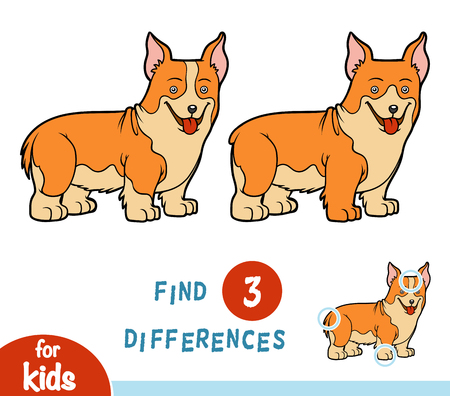 wales: Find differences, education game for children Illustration
