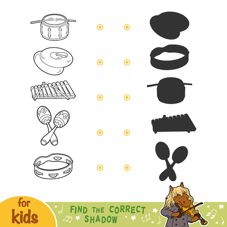 xilofono: Find the correct shadow, education game for children