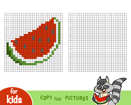 Copy the picture by squares, education game for children Illustration