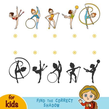 Vind de juiste schaduw, educatief spel voor kinderen Stock Illustratie