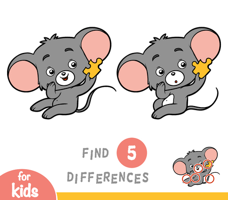 Find differences, education game for children, Mouse