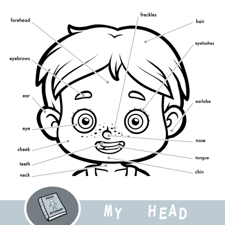 Cartoon Visual Dictionary For Children About The Human Body ...