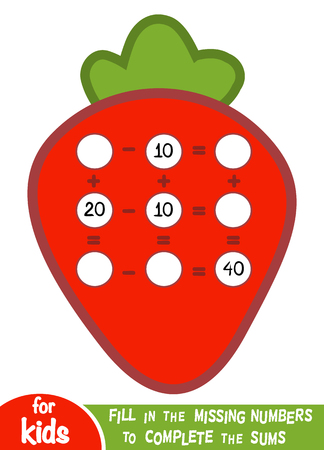 Counting Game for Preschool Children. Educational a mathematical game.