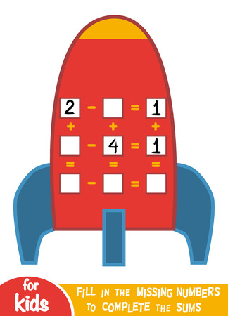 Counting Game for Preschool Children. Educational a mathematical game. Imagens - 94695669