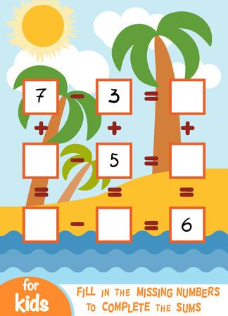 Jeu de comptage pour enfants d'âge préscolaire. Éducatif un jeu mathématique.