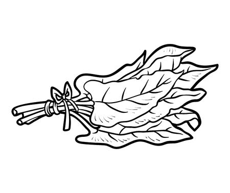 Coloring book for children, Sorrel in black and white illustration. 向量圖像