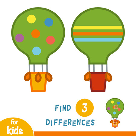 Find differences, education game for children, Balloon Çizim