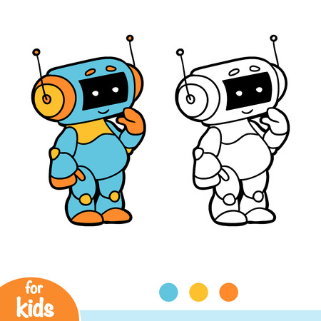Coloring book for children, Robot