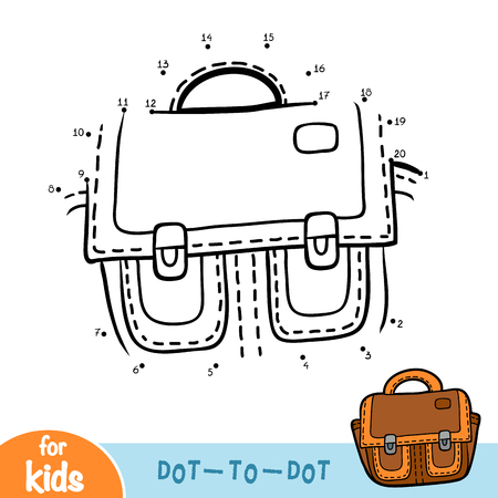 Numbers game, education dot to dot game for children, Briefcase Çizim