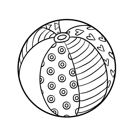 Coloring book for children, Beach ball