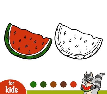 Coloring book for children, Watermelon
