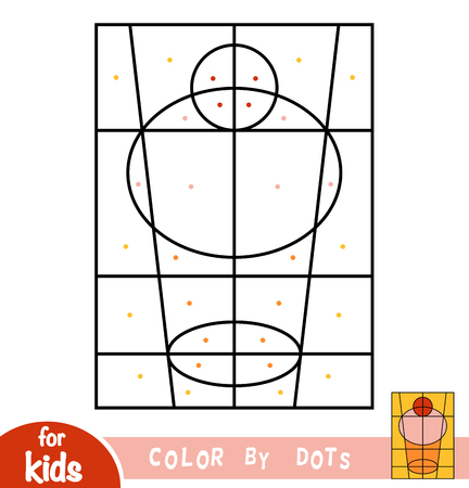 Color by dots, education game for children, Cupcake
