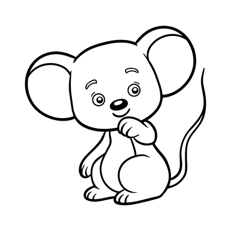 Coloring book for children, Mouse Çizim