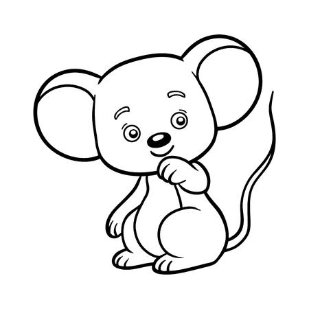 Coloring book for children, Mouse Ilustração