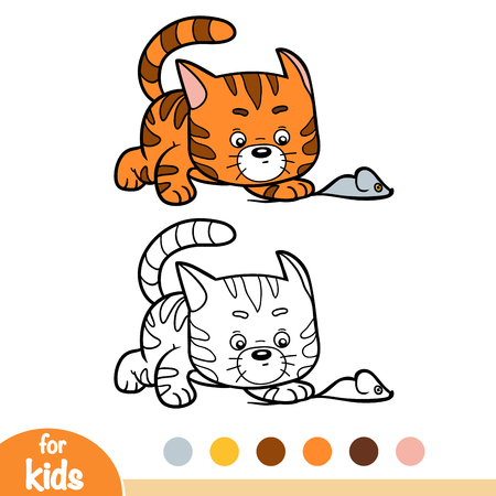 Coloring book for children, Cat