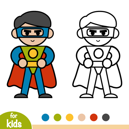 Coloring book for children, Superhero