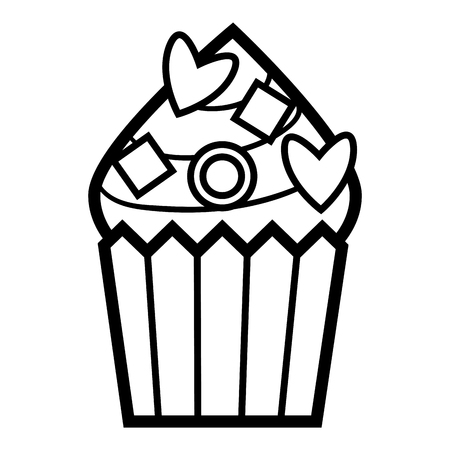 Coloring book for children, cupcake