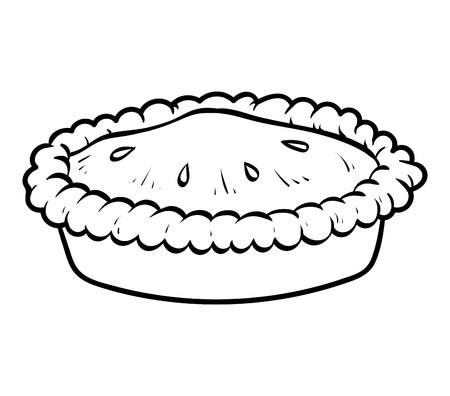 Coloring book for children, Pie